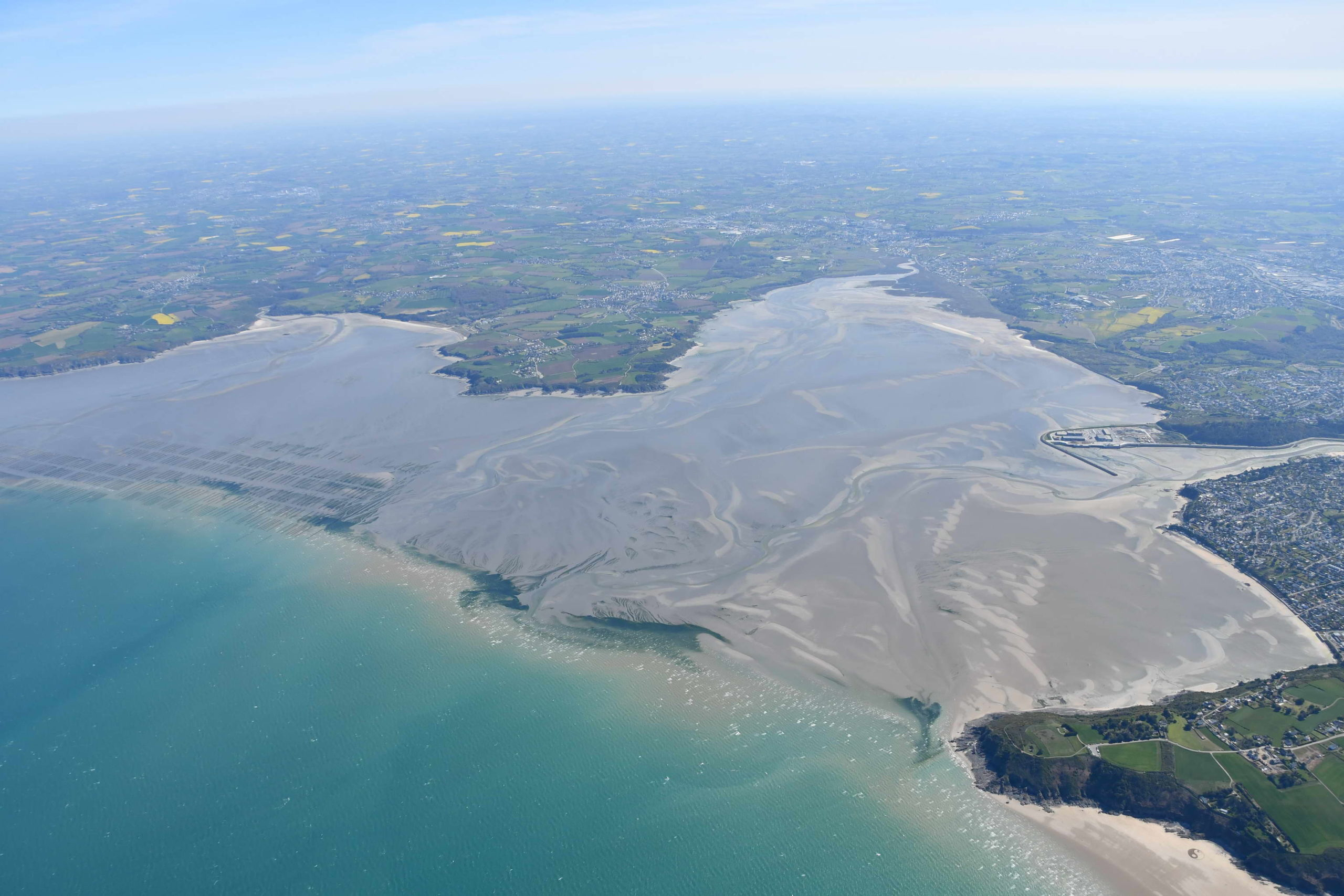 Baie de Saint-Brieuc - anse d'Yffiniac. Avril 2021. ©CEVA